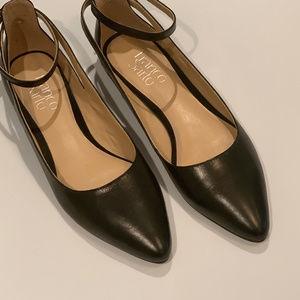 NWOT Franco Sarto Black Leather Flats